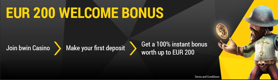 35 Free Spins onAchilles Slot+ 70% match bonus when you make a deposit today at bWin Casino