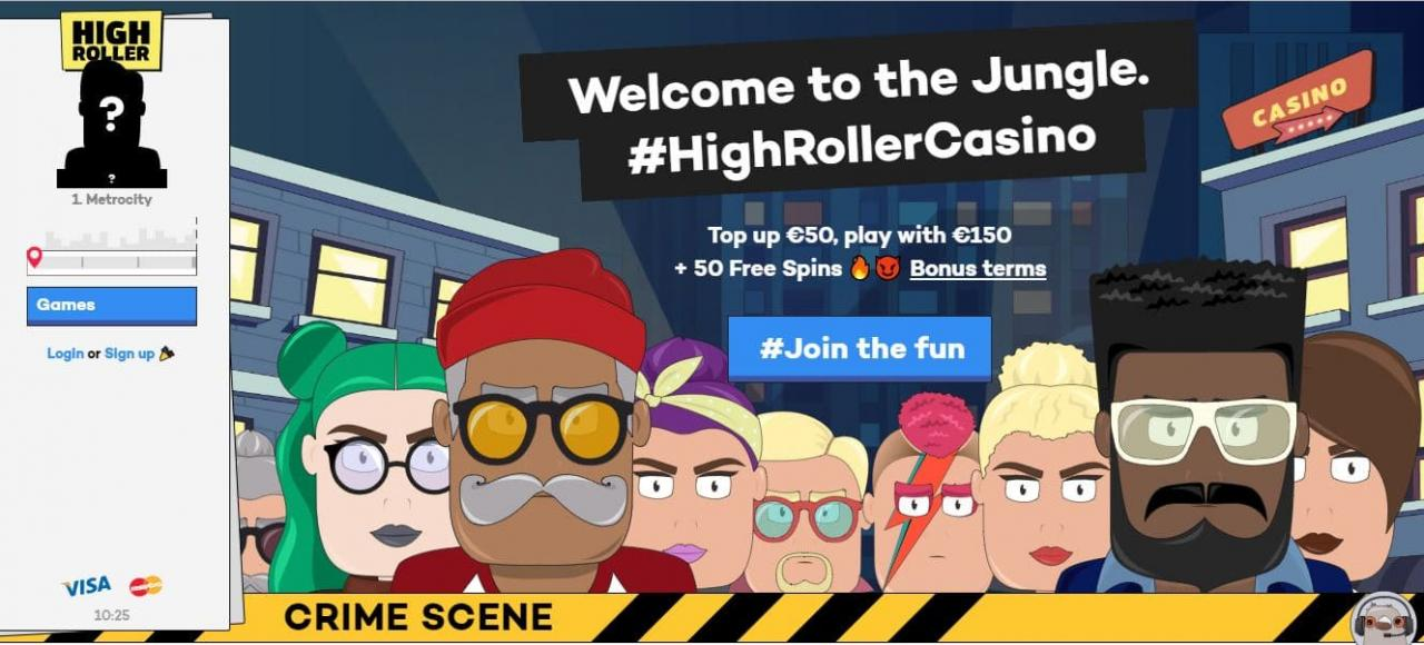 Grab your Highroller Casino welcome bonus: Top Up 0 Play with 0 + 50 Free Spins +20 Coins