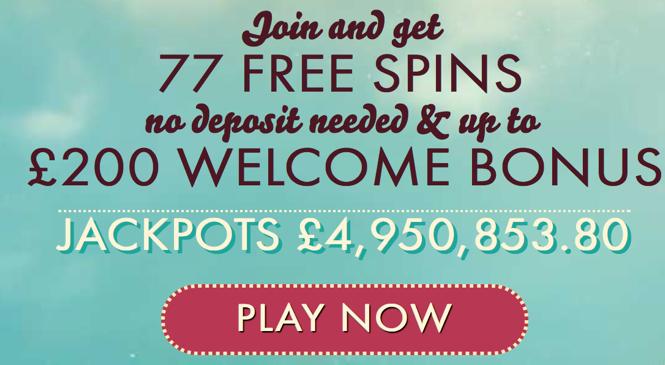 20 Free Spins on Shaolin Spin slot at 777 Casino