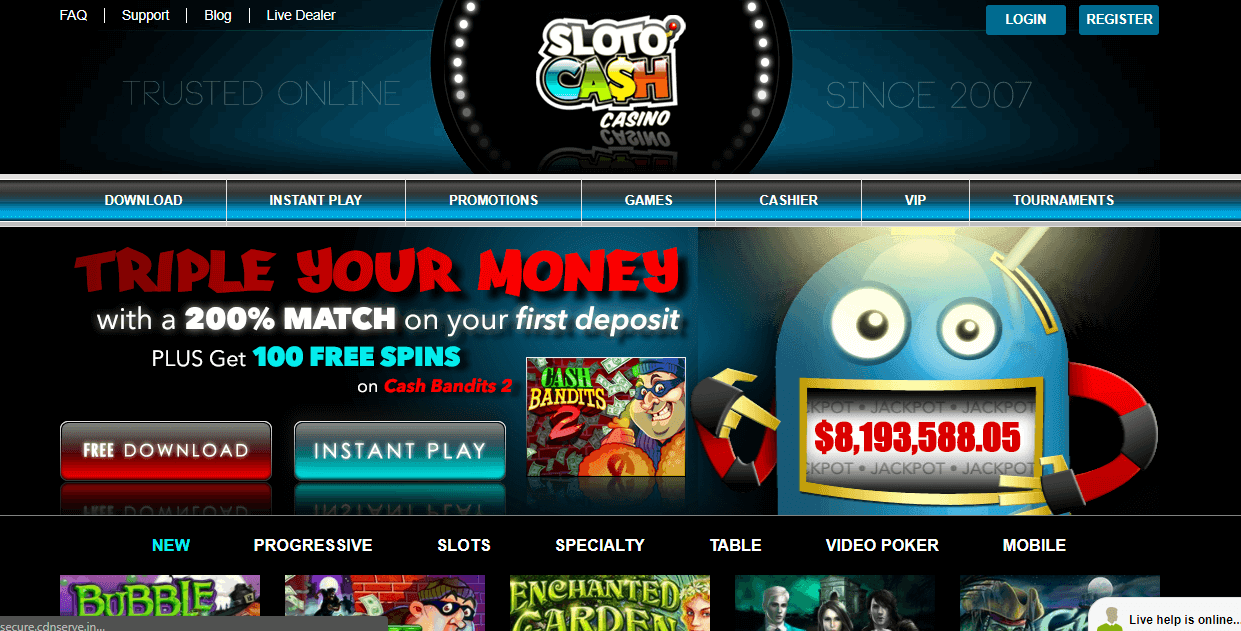 free chip from Sloto Cash