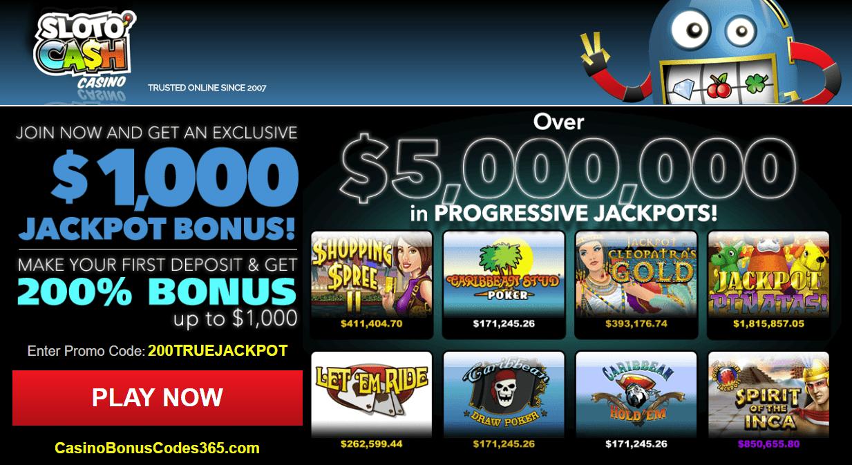 0 no deposit bonus fromSlotoCash Casino Online