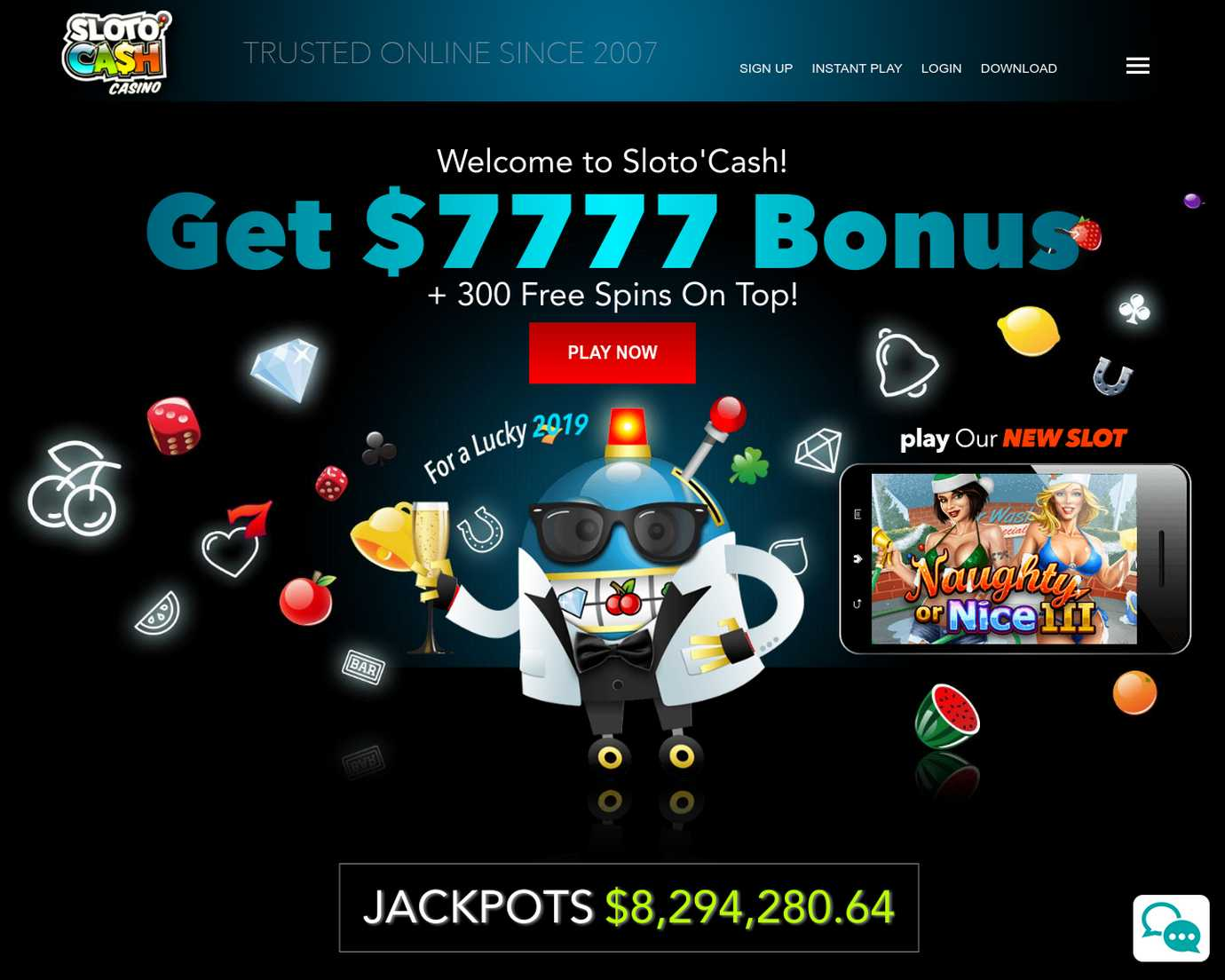 100 free spins on Plentiful Treasures Slot only for depositors at Sloto Cash. US Accepted!