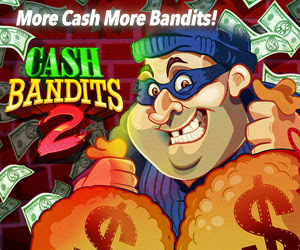 100 Bandit New Year Spins at Sloto Cash Casino Online. It Feels Good to be Bad... USA Players Welcome!