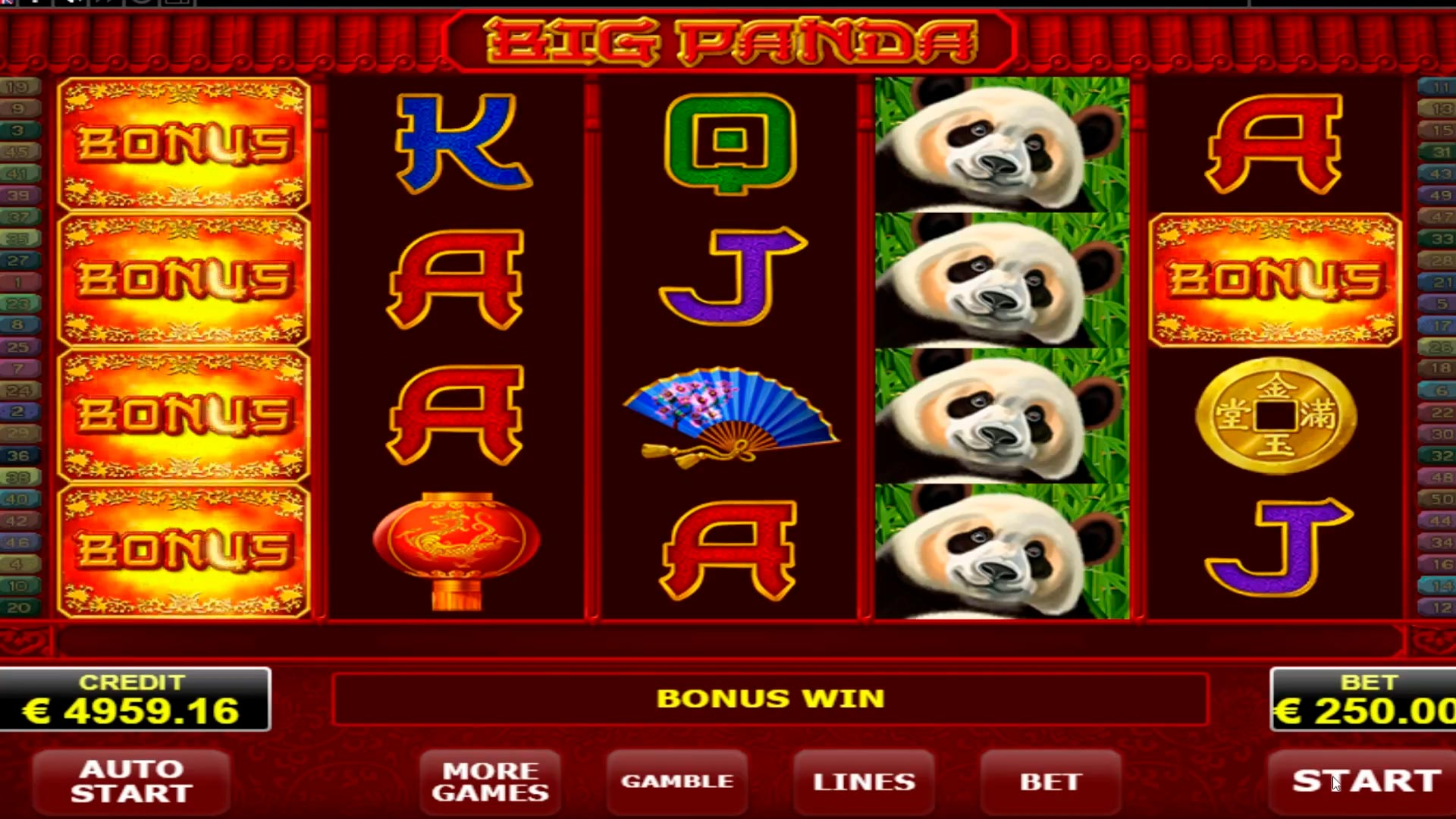 Big Panda mega big win € 19.500