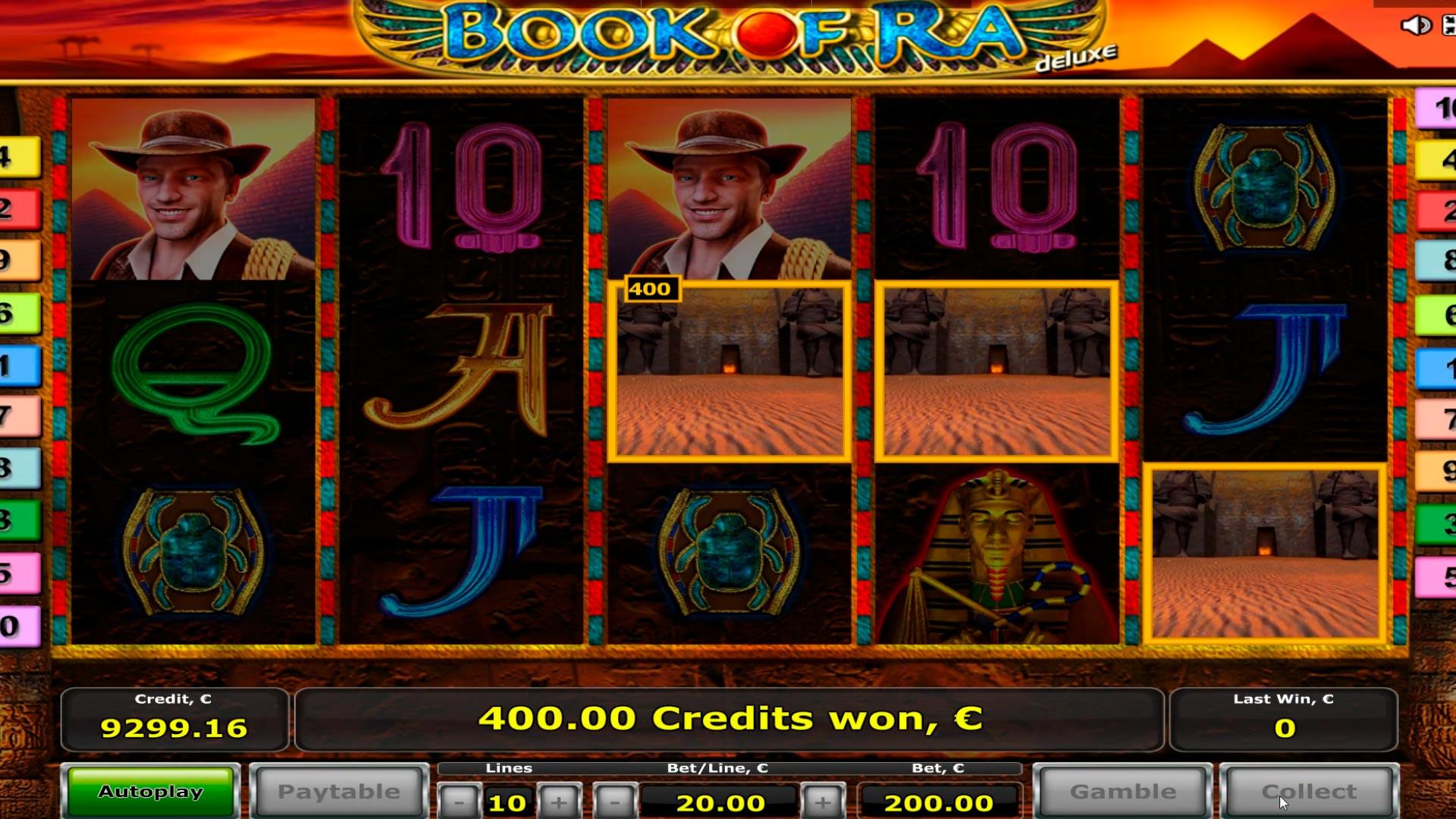 Grande Slot di Book of Ra Casino: giochi bonus 2: vinci € 12.000 e € 20.000