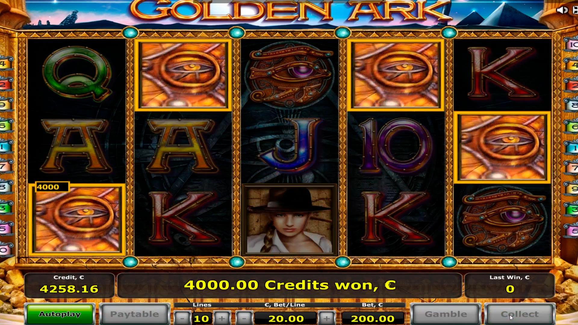 Slot del casinò dell'arca dorata grande vittoria € 14.800