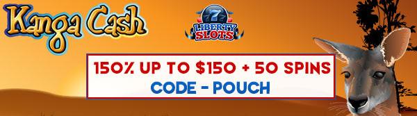 150% kuni 0 + 50 keerutab Liberty Slots Casino Online'is! American Gamblers aktsepteeritakse!