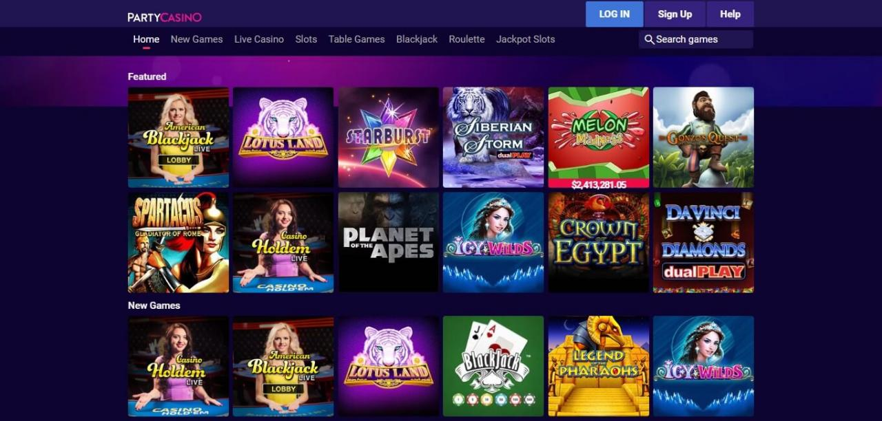 January 2019 Bonus: Get 0 Extra & 120 Free Spins at Party Casino Online!