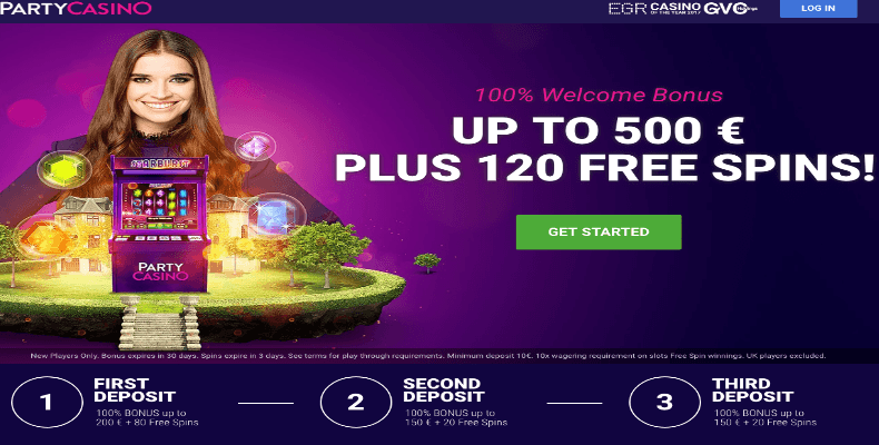 60 free spins on Christmas Carol, from Party Casino
