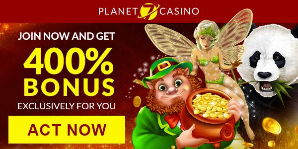 行星7。 行星400传奇赌场的7%没有最高奖金。 美国接受了!