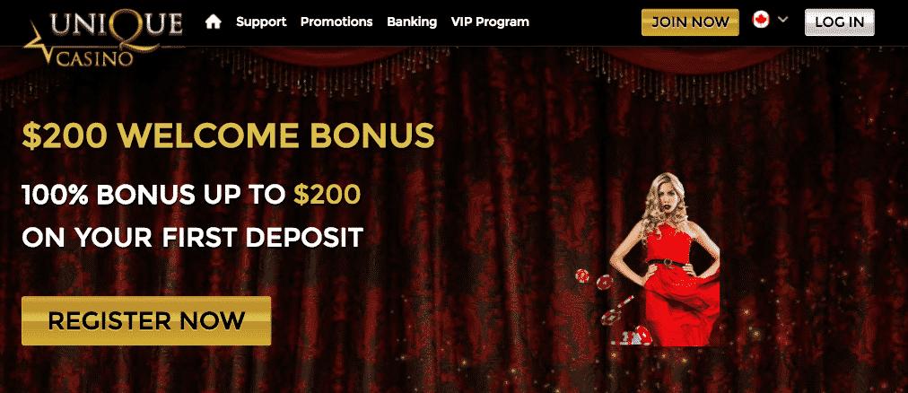 Унікальны бонус казіно
