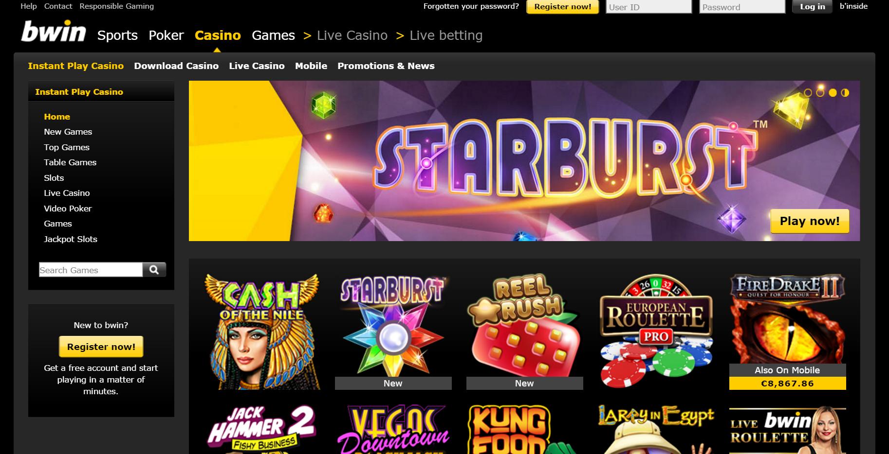 bwin Casino erbjuder 200 Euro Bonus!