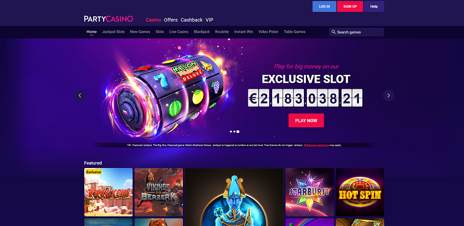 Exclusive bonus for Party Casino. Up to 0 No deposit bonus!