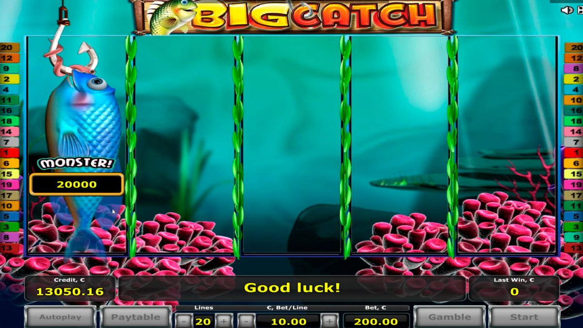 Big Catch Casino Slot BIG WIN - $20.000