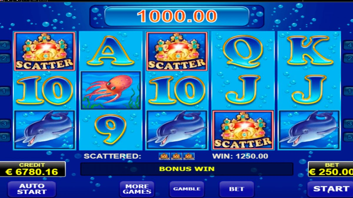 Blue Dolphin Casino-spilleautomat BIG WIN - € 26.500