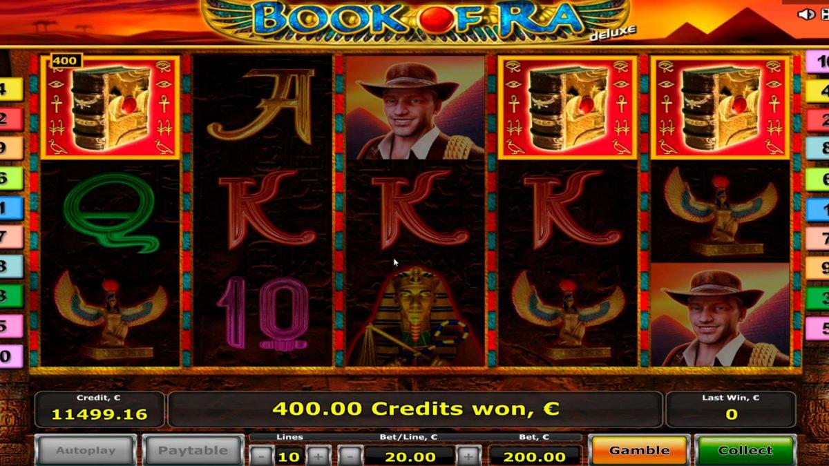 Книга на казино слот Ra BIG WIN € 18.900