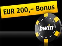 bwin कैसीनो 200 यूरो बोनस प्रदान करता है!