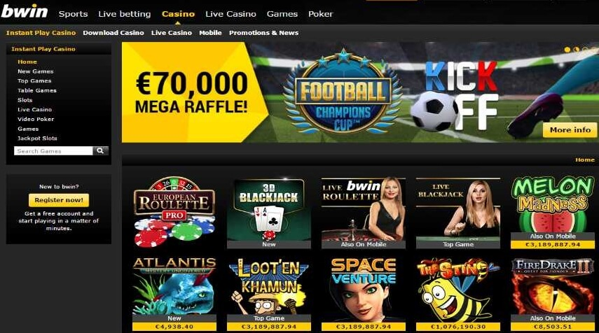 50 free spins from bWin Casino Online!