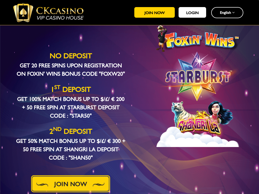 Principalis linguae pertinet 2 Currently CKCasino offert ejus in software