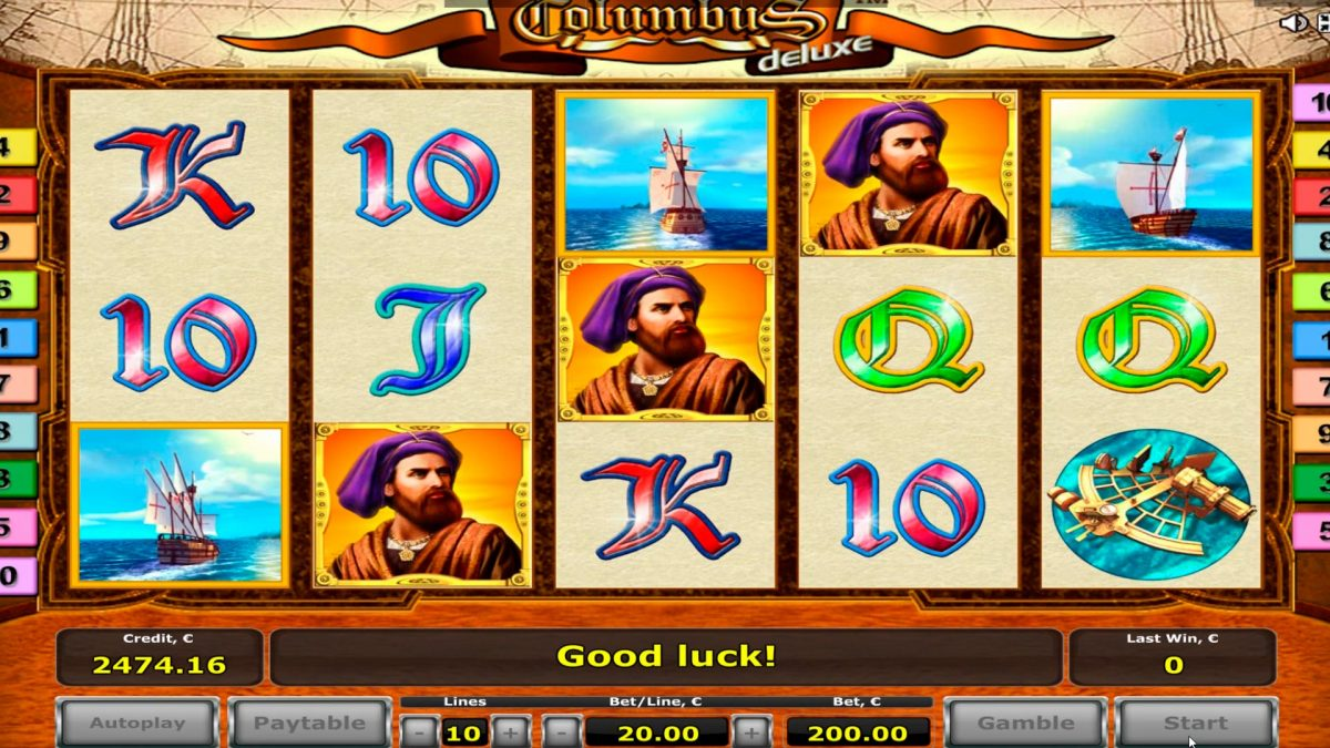 Kolumbus-kasinopelissä iso voitto € 9.500