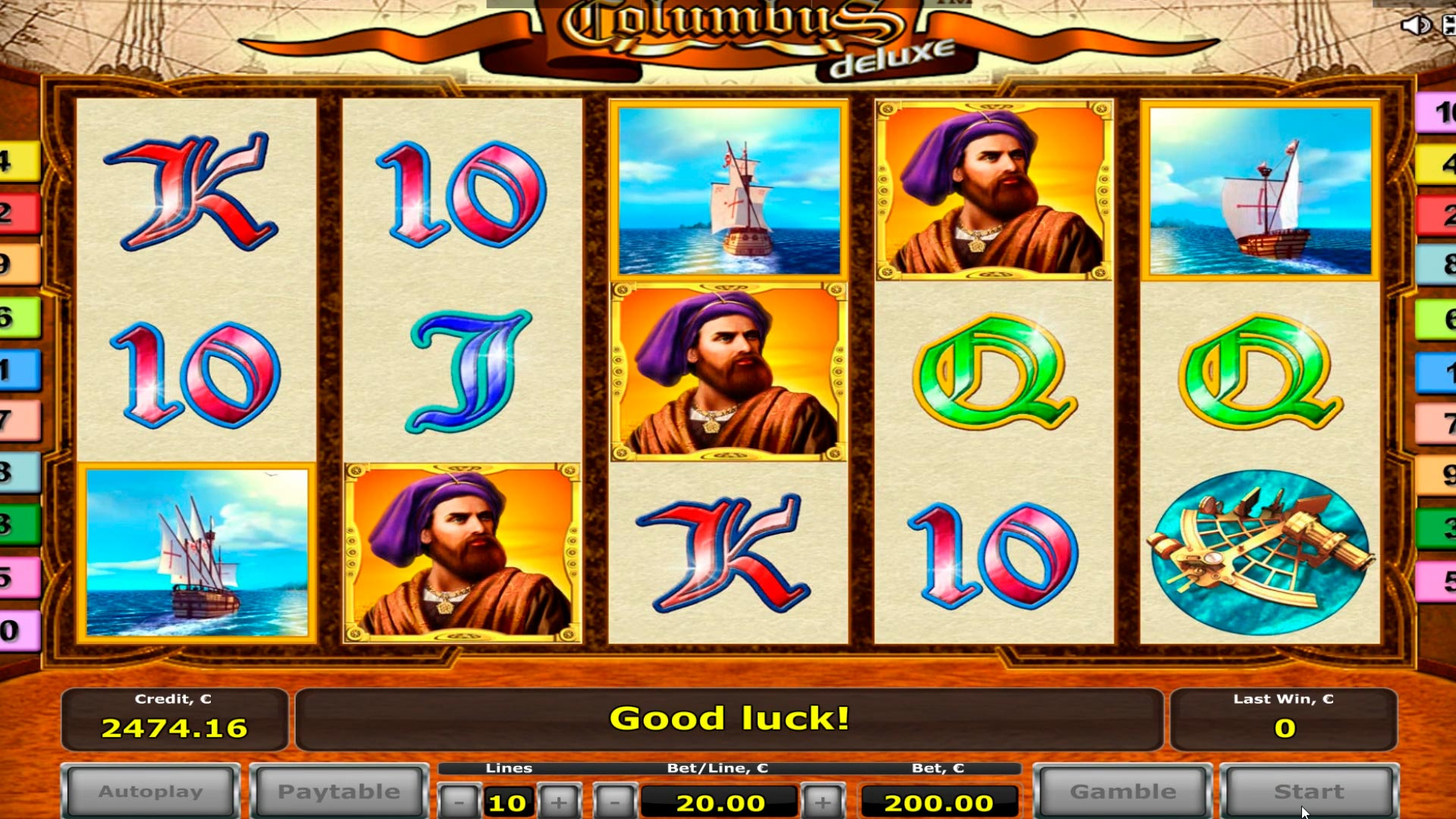 Columbus casino Ramin babbar nasara € 9.500