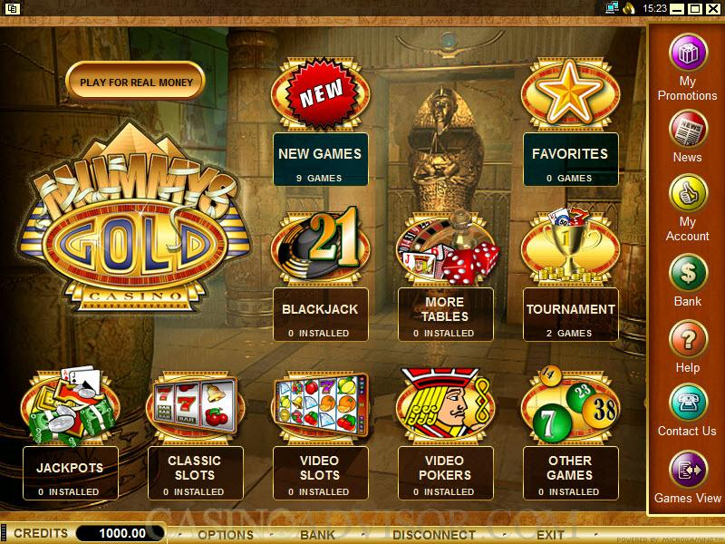 Casino Welcome Bonus at Mummys Gold Casino. 100% Match Welcome up to 0.