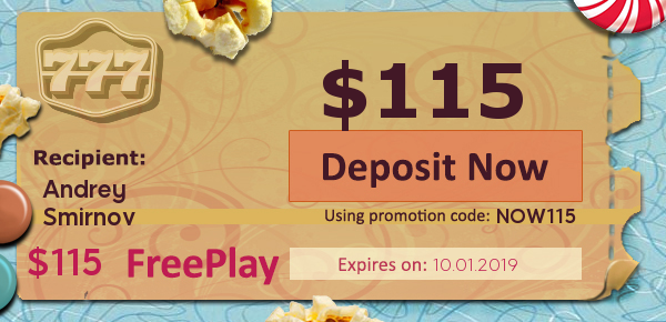 We'll give you 5 FREEPLAY on our most popular slots and table games at 777 Casino Online