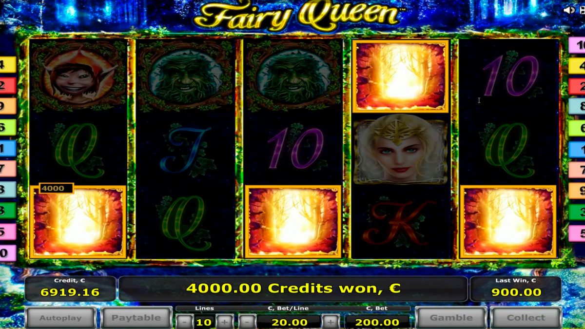 Fairy Queen big win kasiino - 2 boonusmängud - 8 hajutab! WIN - € 41.000