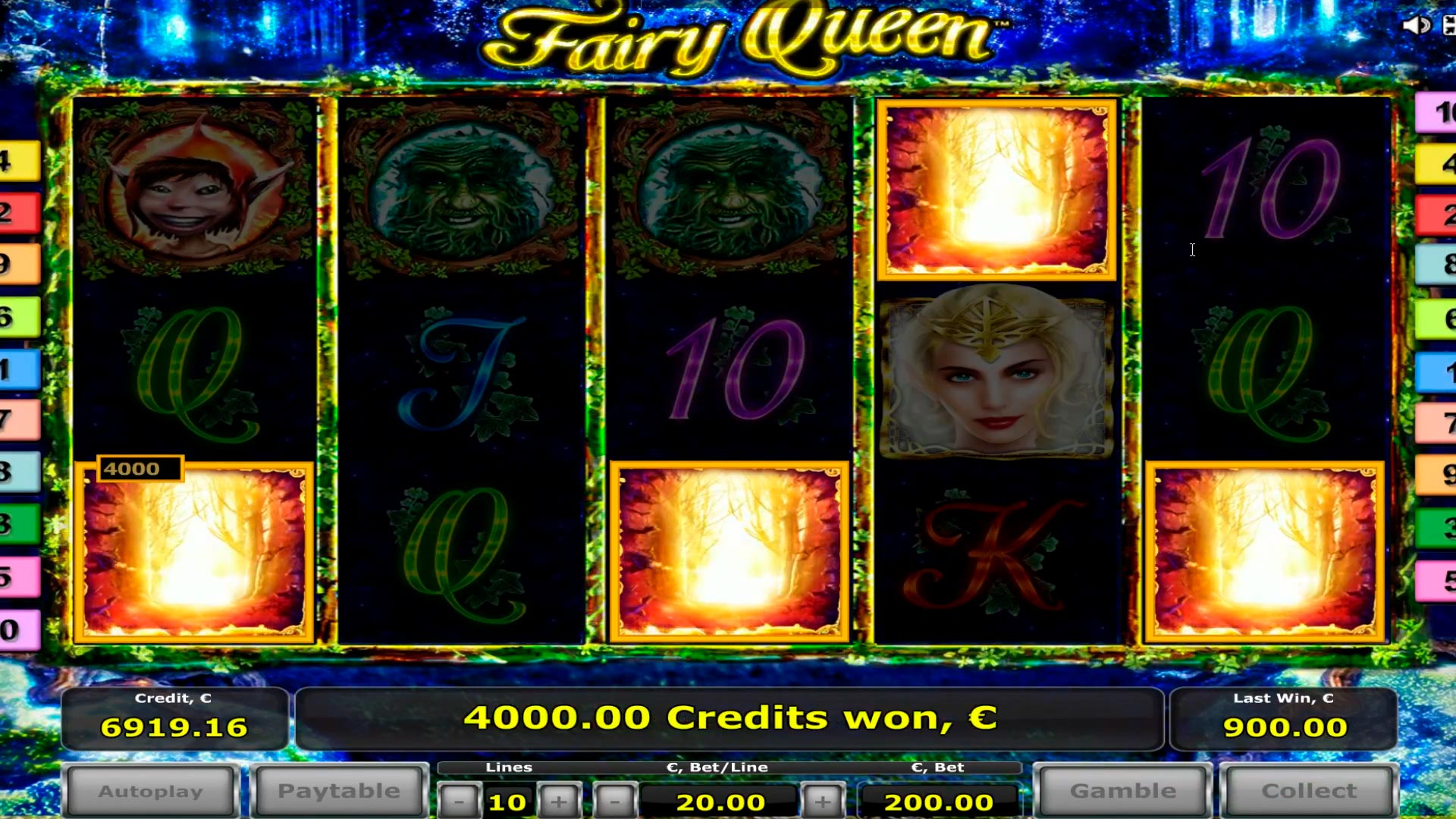 Fairy Queen big win casino - bonusové hry 2 - 8 scatters! WIN - € 41.000