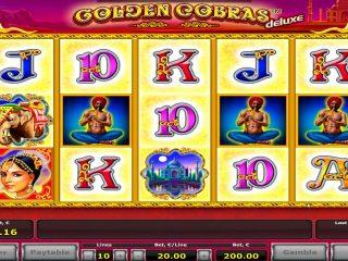 คาสิโนออนไลน์ Golden Cobras สล็อตชนะรางวัลใหญ่ - € 18.000