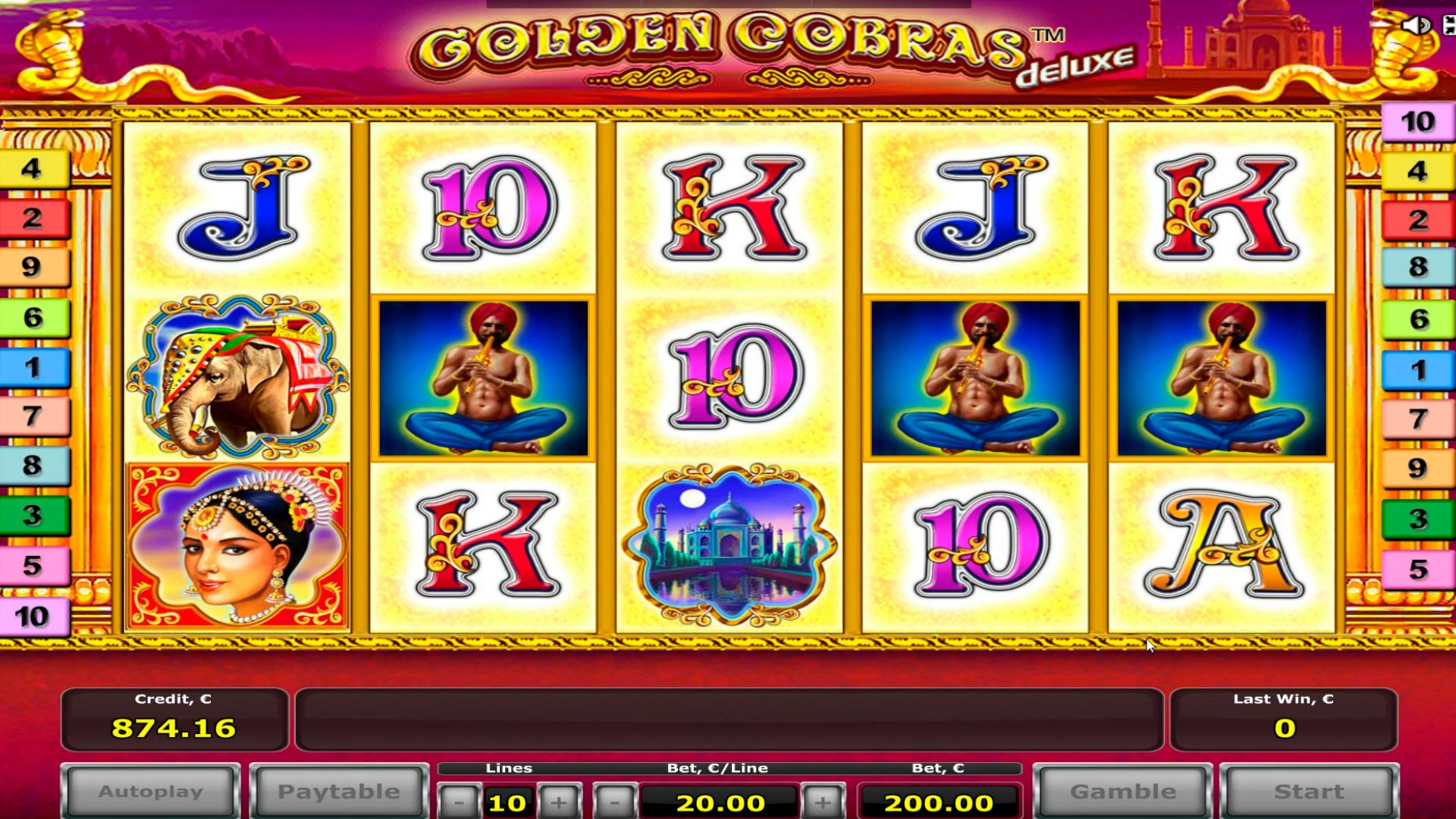 Grande vincita del casinò online Golden Cobras - € 18.000