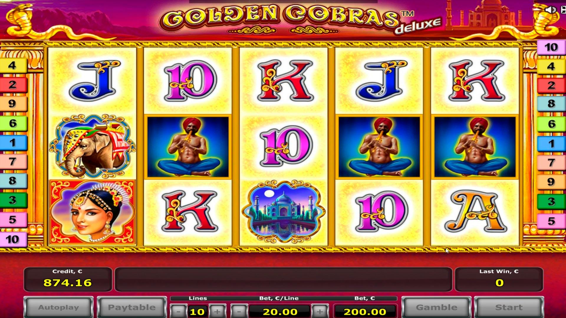 Golden Cobras online casino slot büyük galibiyet - € 18.000