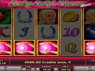 คาสิโน Lucky Lady ช่องรับรางวัลใหญ่ - 4 กระจาย€ 22.000