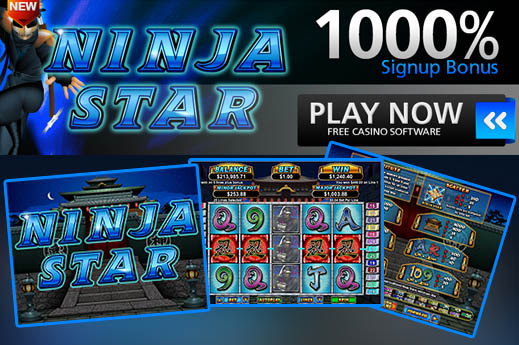 """200"" nemokami sukimai ""Sloto Cash Casino Online"" su ""Ninja Star Slot""."