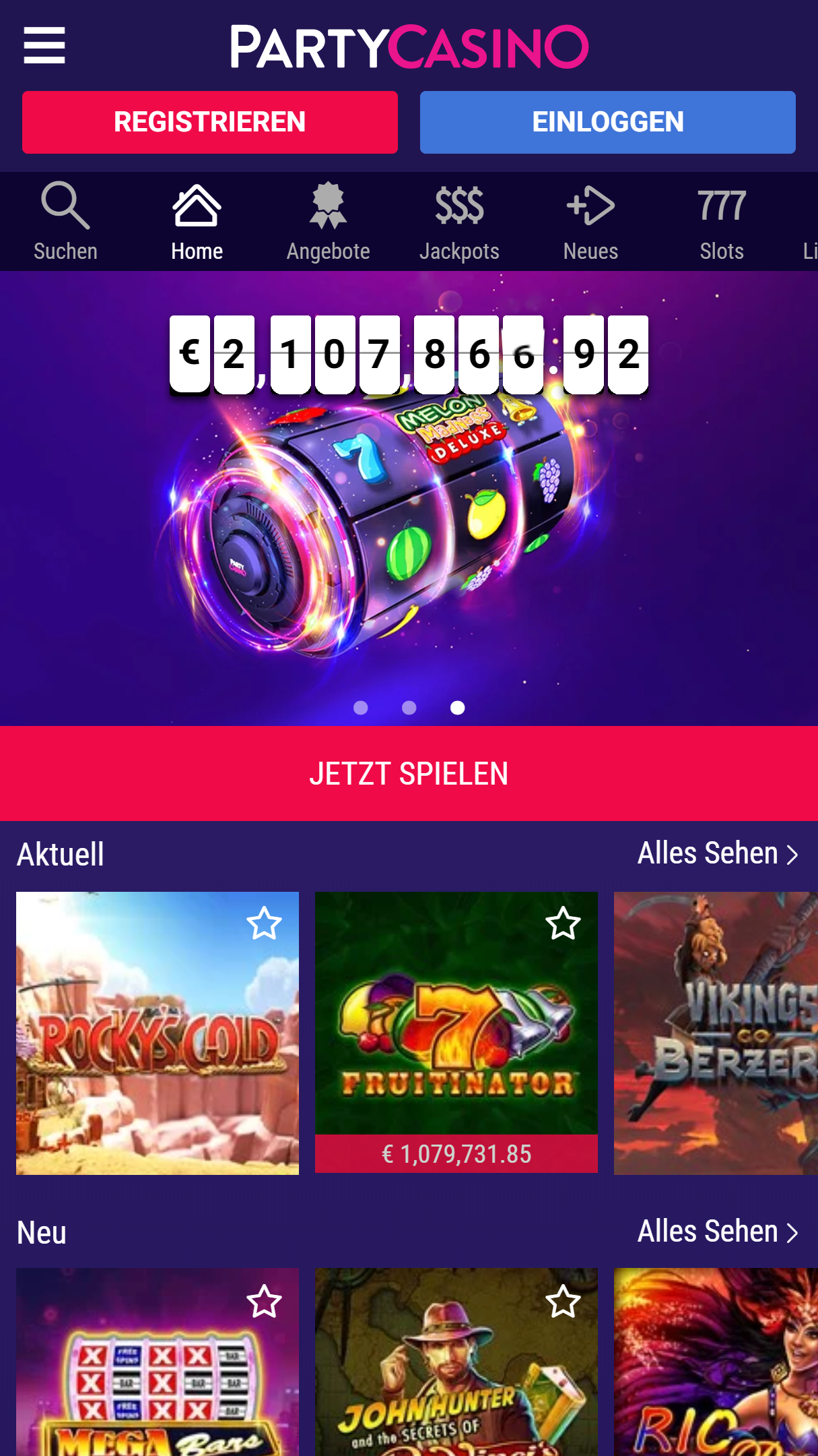 100% do 200 in 50 se vrti na različnih igrah v Party Casinoju