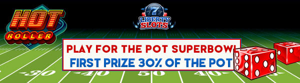 """40 үнэгүй констракшн + Тэмцээний нэр - Либерти Слоус дахь """"Superbowl Pot"""" -ийг тоглоорой. АНУ-ын Казино тоглоомчид - Тавтай морилно уу!"""