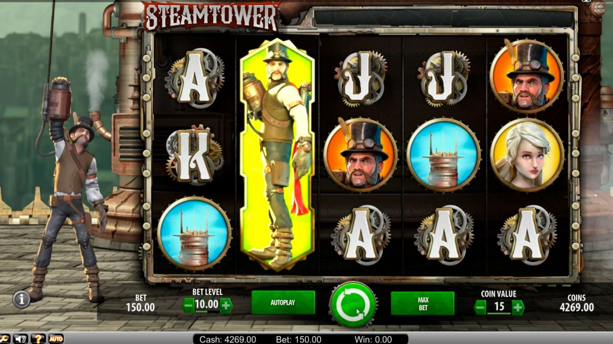 Steam tower casino slot big  win €23.000 with bonus game!