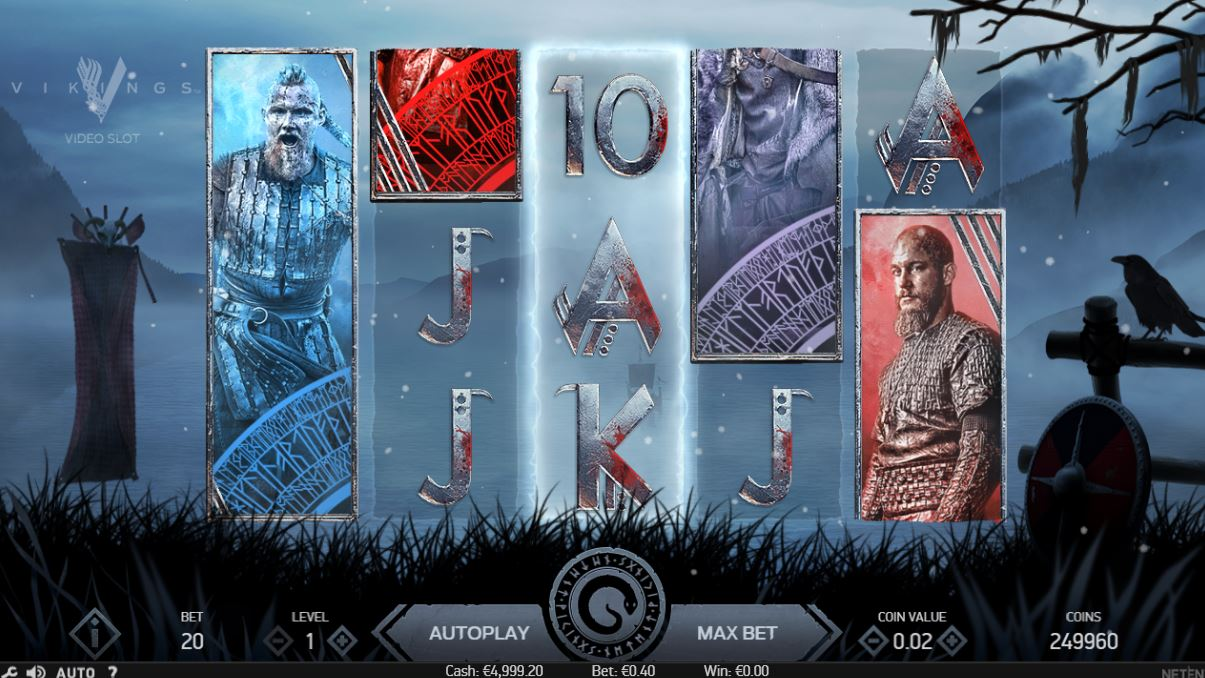 Slot NetEnt Vikings. 1st: 100% do € 300 in 80 se vrti na igralnem avtomatu Vikings na Sloto Cash