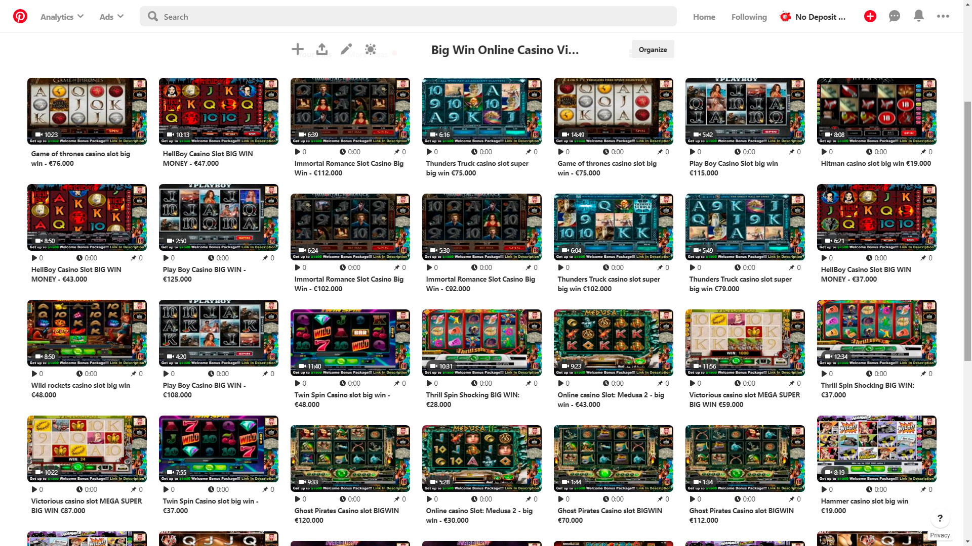 Casino Pinterest videók