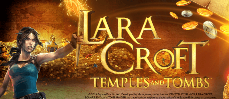 Dig Up Treasure e 5000x Jackpot Fortunes con Lara Croft®: Temples and Tombs ™!