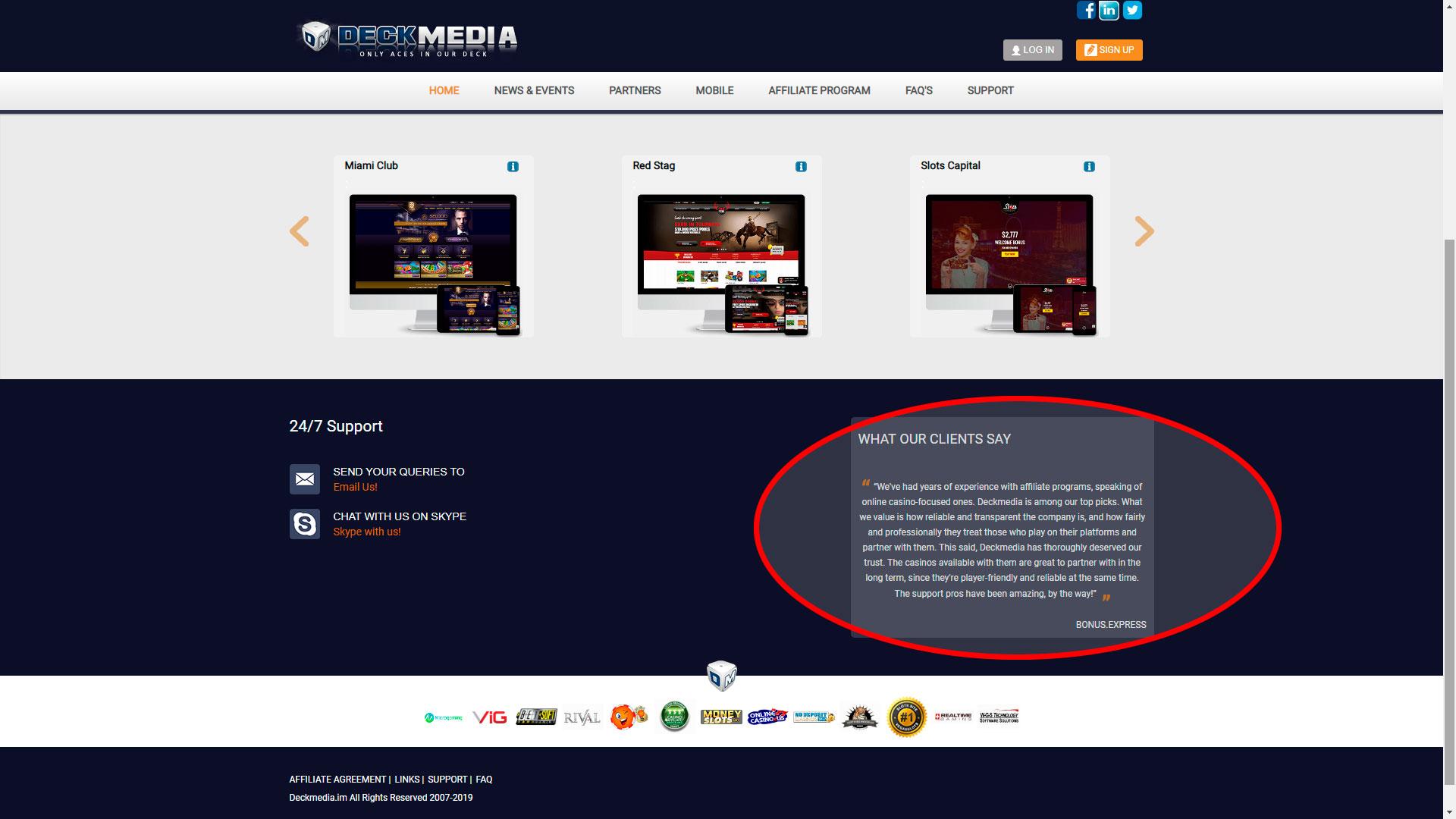 Desc Media əlaqəsi