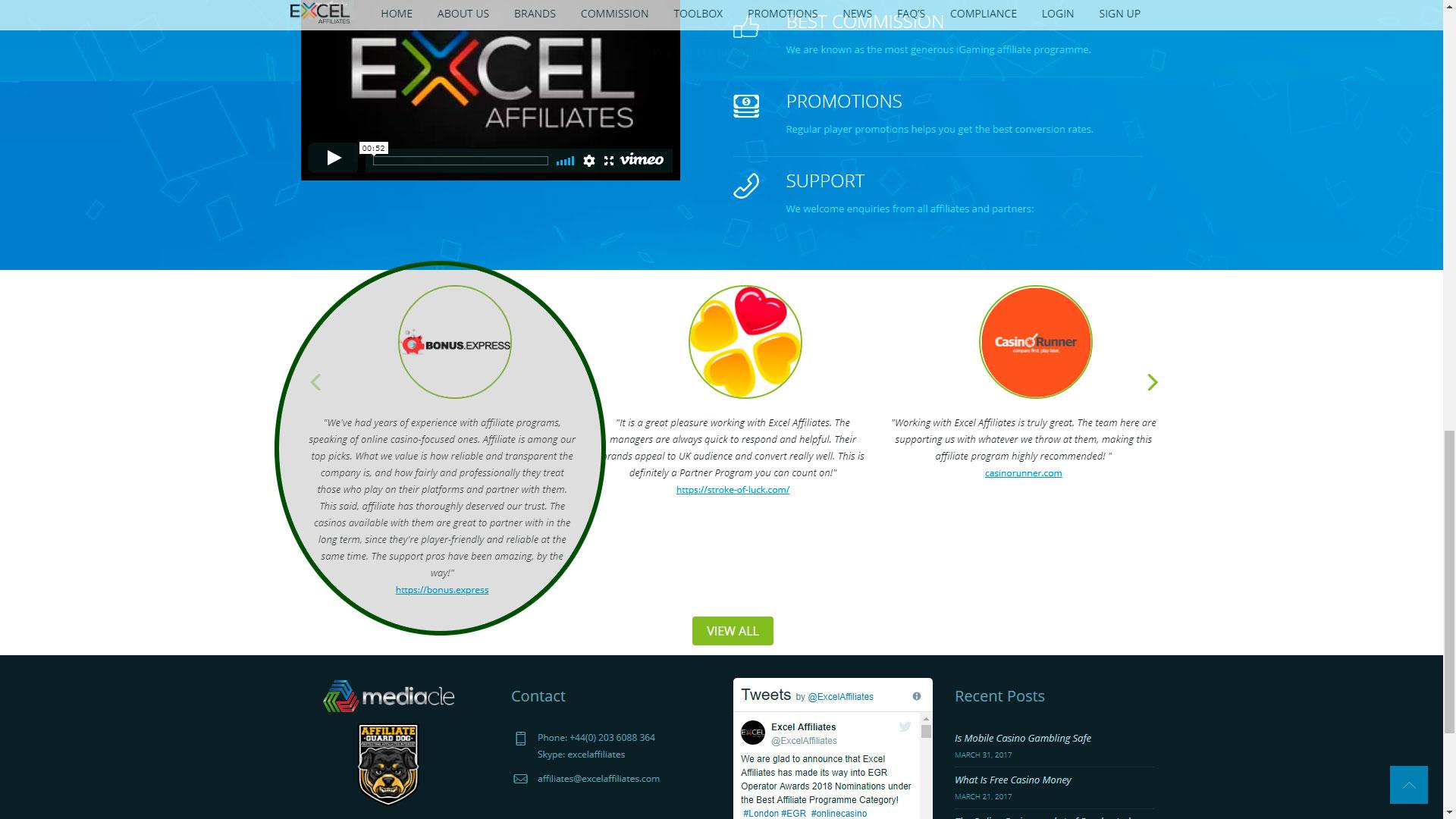 Партнёрскія праграмы Excel