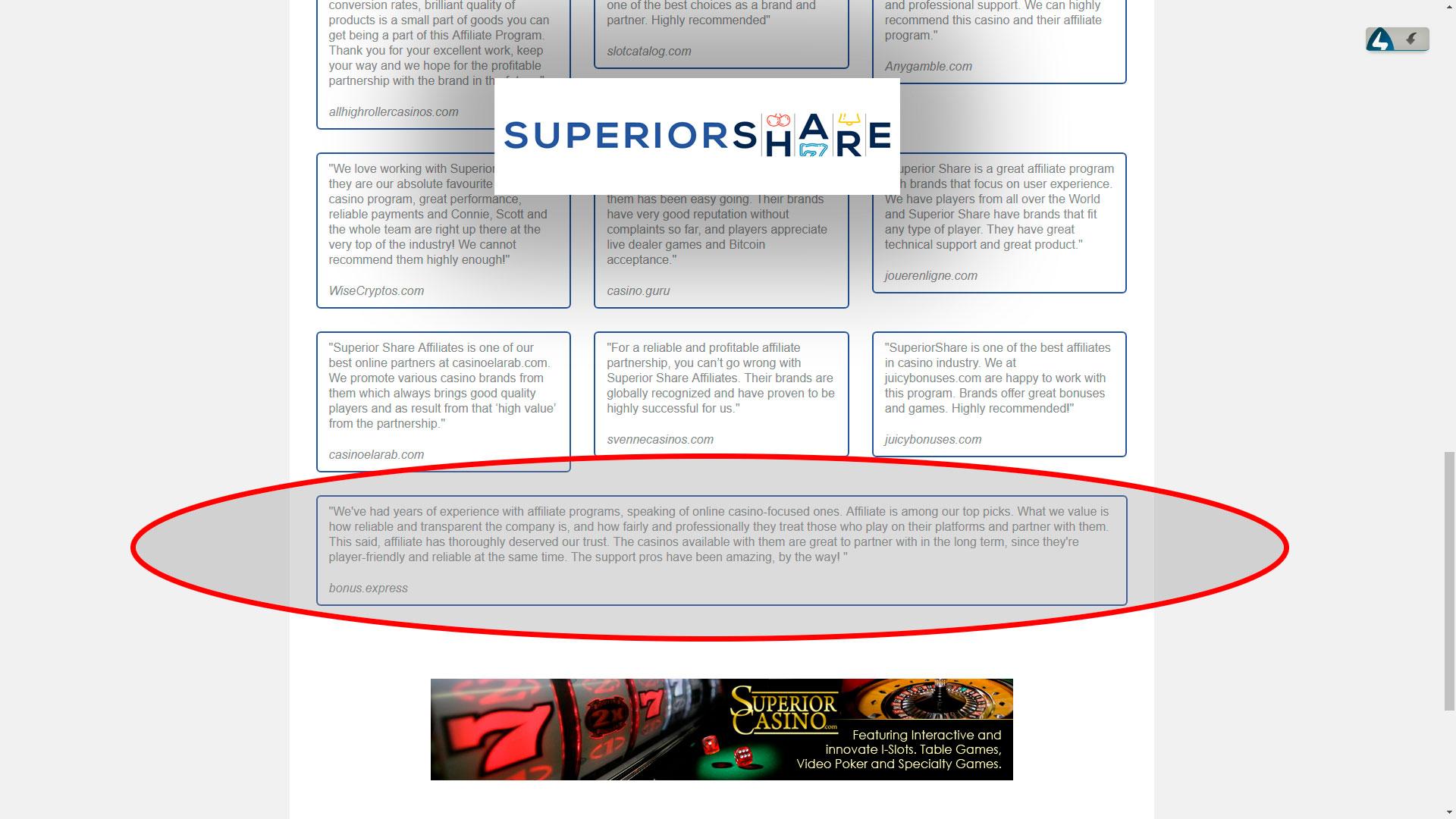 Superior Share