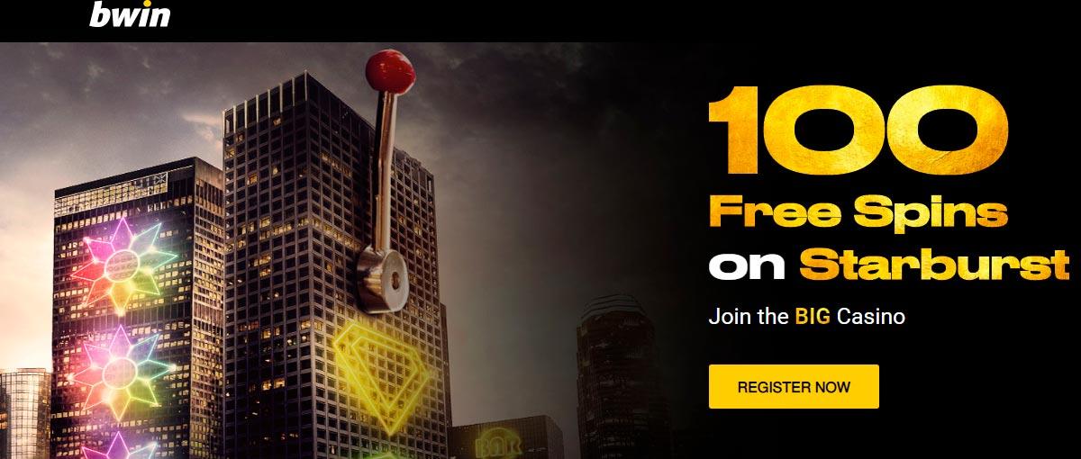 100 անվճար պտտվում է Starburst- ում bWin Casino- ում