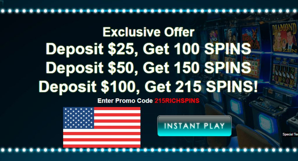 215 Free Spins di Casino Sloto Cash!