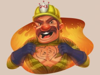 25 freespins u Roasty McFry i The Flame Busters