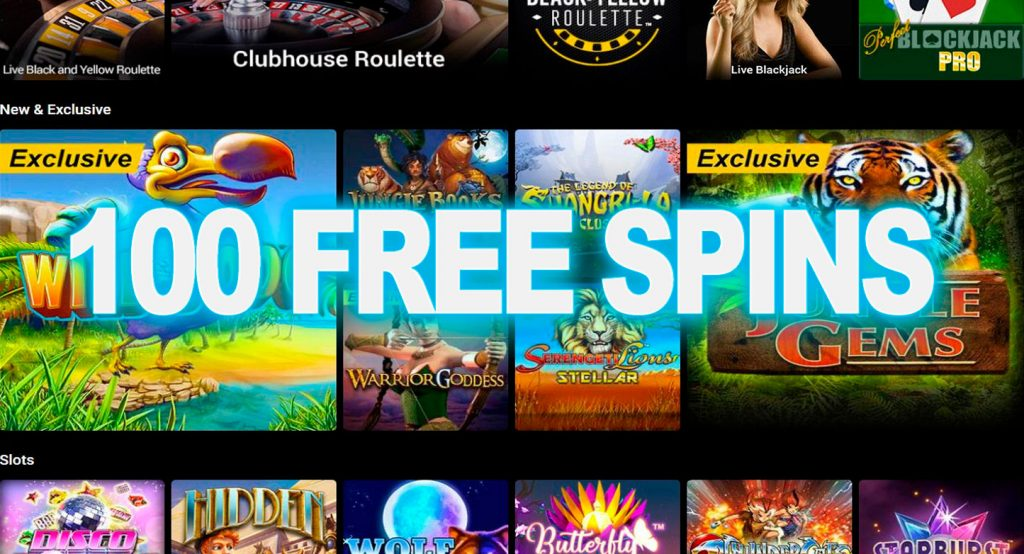 bWin Casino的100 Free Spins
