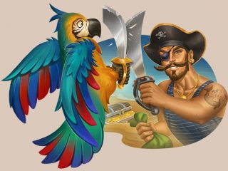10 freespins in Pirate's Charm