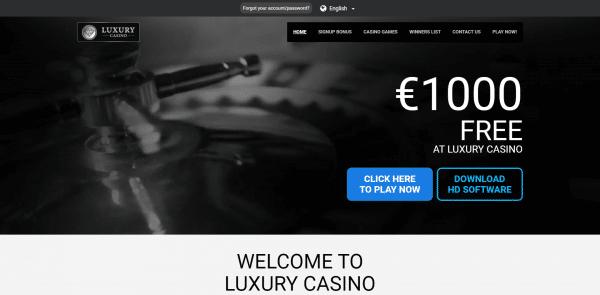 €1000 FREE AT LUXURY CASINO