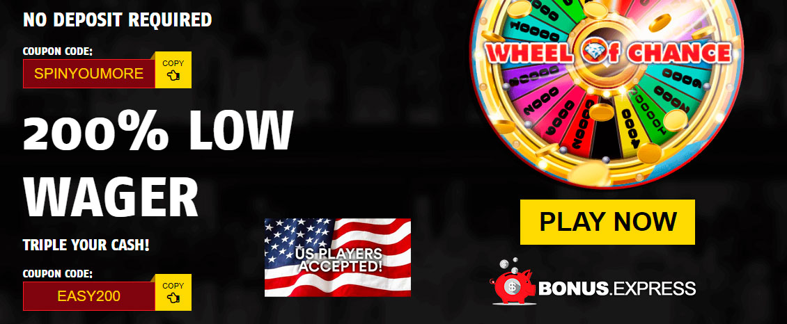 63 FREE WHEEL OF CHANCE SPINS at Red Stag Casino.